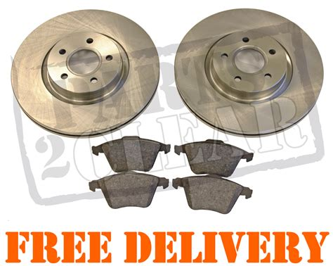 Brake Pad Ford Focus Rr Fullset ford focus st 225 rear brake discs pads set 280mm solid new paid 2005 2011 ebay