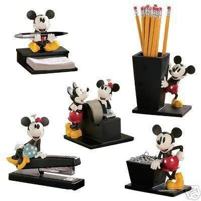 disney office desk accessories disney vintage mickey and minnie mouse 5 desk set