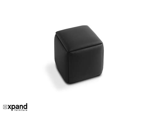 black leather storage cube black ottoman chair
