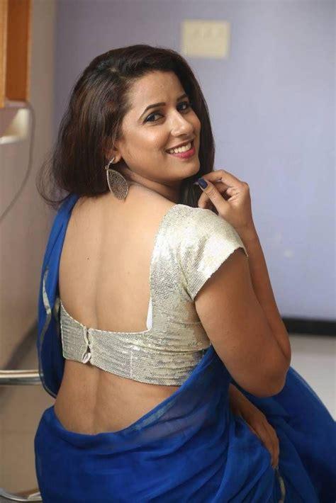 hollywood actress hot photos in saree actress sravya reddy latest hot blue saree photos