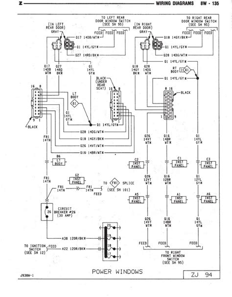 wiring diagram 93 jeep wrangler wiring diagram