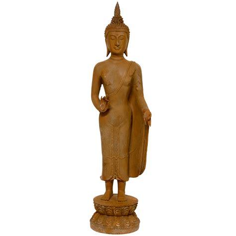 21 quot thai standing gebon rust patina buddha statue ebay