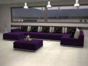 Indoor eggplant color scheme for interior home decorations gray and