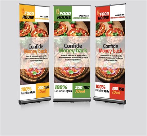 food banner template restaurant roll up banners template presentation