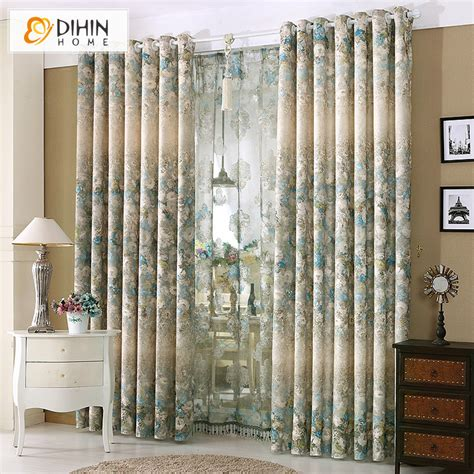 New Style Curtains Home Decorating Dihin 1 Pc Curtain Ready Made High End Garden Window Drapes Luxury Curtains For Living Room
