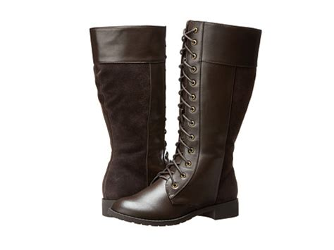 fitzwell boots fitzwell nessie wide calf brown leather shipped free at