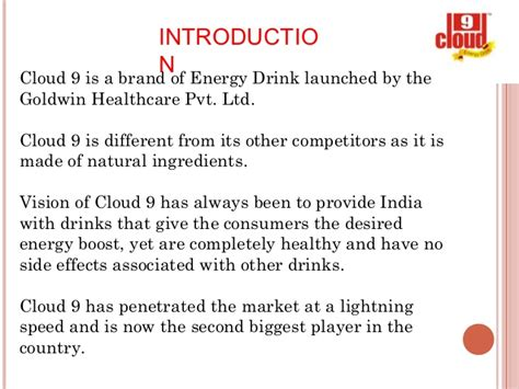 cloud 9 energy drink ingredients cloud 9 ppt ketan
