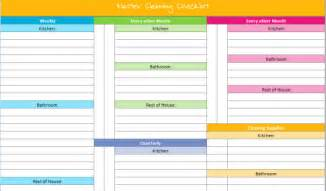 Organizing Schedule Template by 20 Free Printables To Organize Everything In Your Home