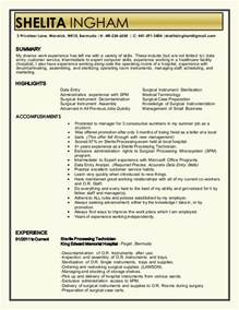 sterile processing tech resume ebook database