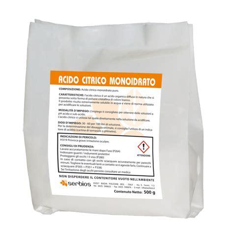 Utilizzo Acido Citrico by Acido Citrico Monoidrato Puro Serbios