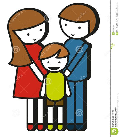 drawing for parents simple family drawing with parents and kid stock vector