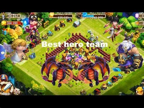 castle clash best heroes castle clash best team