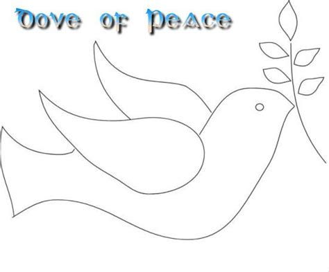 dove of peace template 6 best images of printable dove pattern peace dove