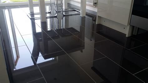2 polished porcelain floors and a black metro splashback tilersforums co uk professional