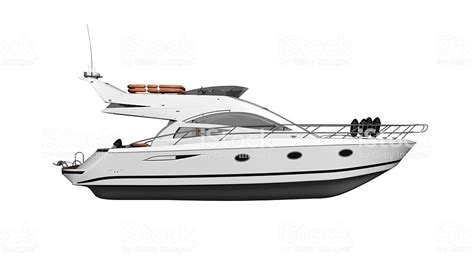 side of a ship or boat yacht luxury boat vessel isolated on white background side
