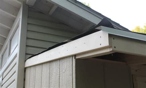 install drip edge  shed roof building  shed