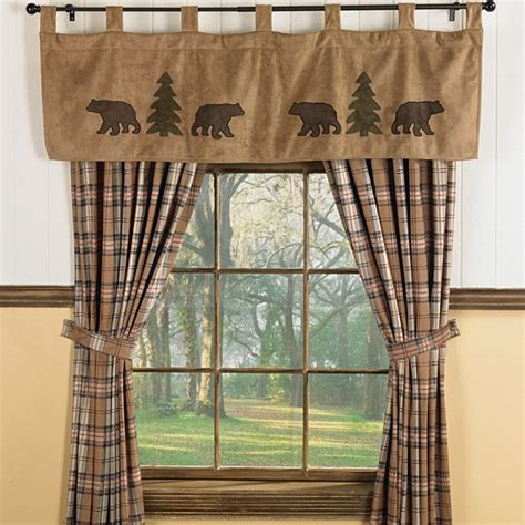 Curtains With Bears On Them Trees Wildlife Window Curtains For Cabins Interior Design Home Decor Pinterest