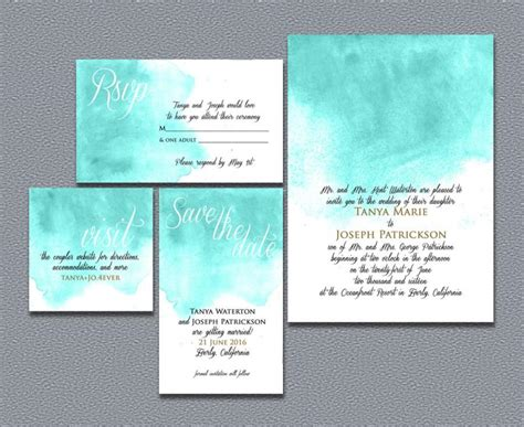 printable wedding invitation suites printable watercolor wedding invitation suite 2405438