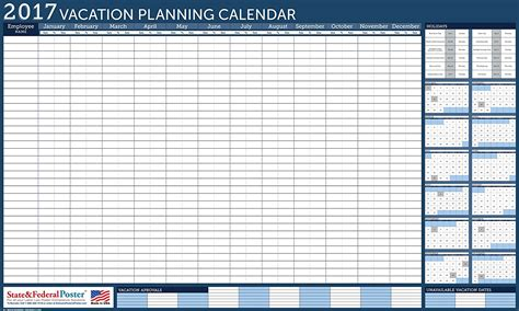 Vacation Calendar Vacation Calendar 2017 My
