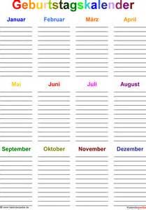 Vorlage Word Umschlag A4 Geburtstagskalender In Word Zum Ausdrucken 8 Varianten