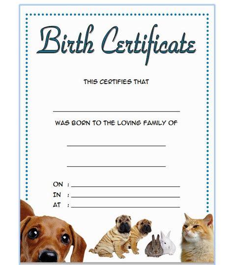 free pet birth certificate template pet birth certificate template 3 the best template