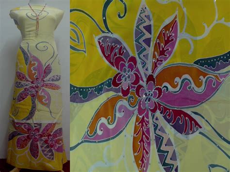 Design Batik Lukis Terkini | design batik lukis terkini batik sutera crepe lukis