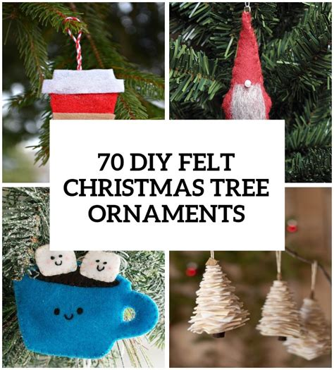 felt decorations 70 diy felt tree ornaments shelterness