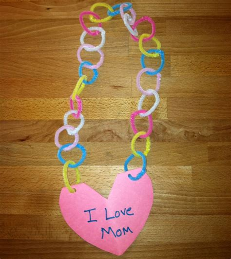 easy mothers day crafts preschool crafts for s day necklace card