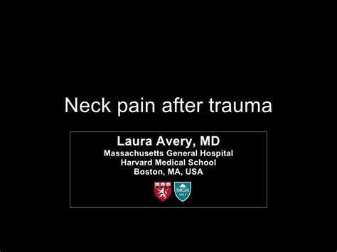 neck pain after c section radiology rounds neck pain after trauma