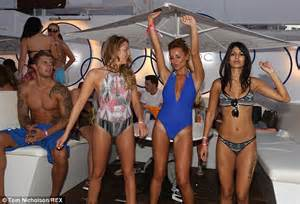 Party Draping Towie S Georgia Kousoulou Shows Tan Lines As She Parties
