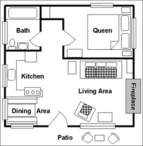 One Room Cabin Floor Plans by Jasper Cabin Rentals Jasper National Park Alberta Canada