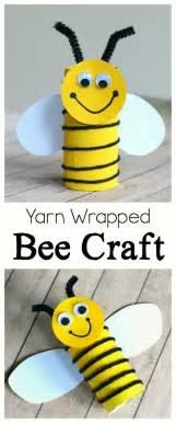 toilet paper roll bee craft for easy peasy and cardboard bee craft for using yarn crafts