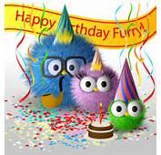Funny Cartoon Happy Birthday Cards Vector 01
