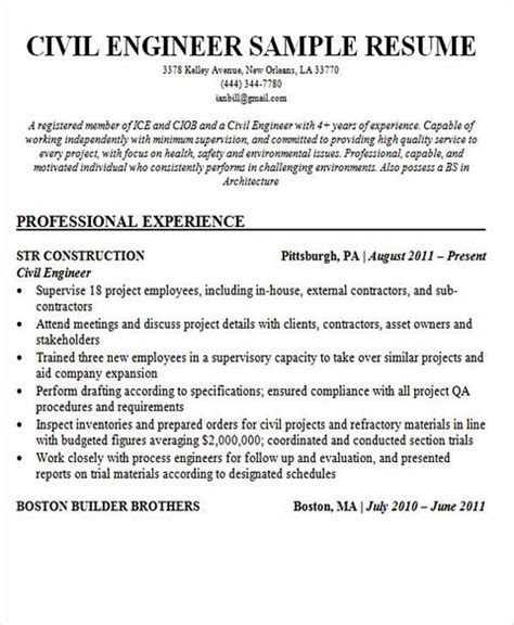 100 professional entry level civil engineer health and safety engineer sle resume 22