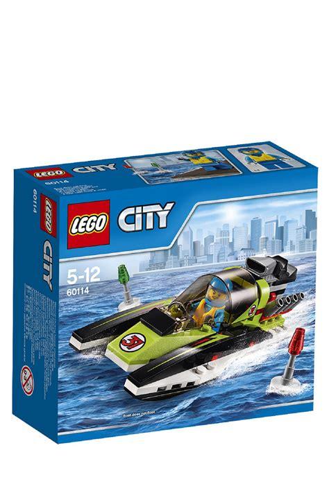 lego boat myer lego city race boat 60114 myer online