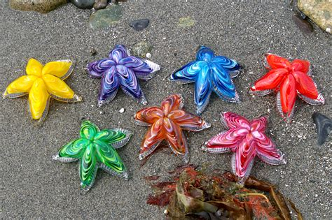 starfish colors glass starfish made by rubino glass inc in seattle