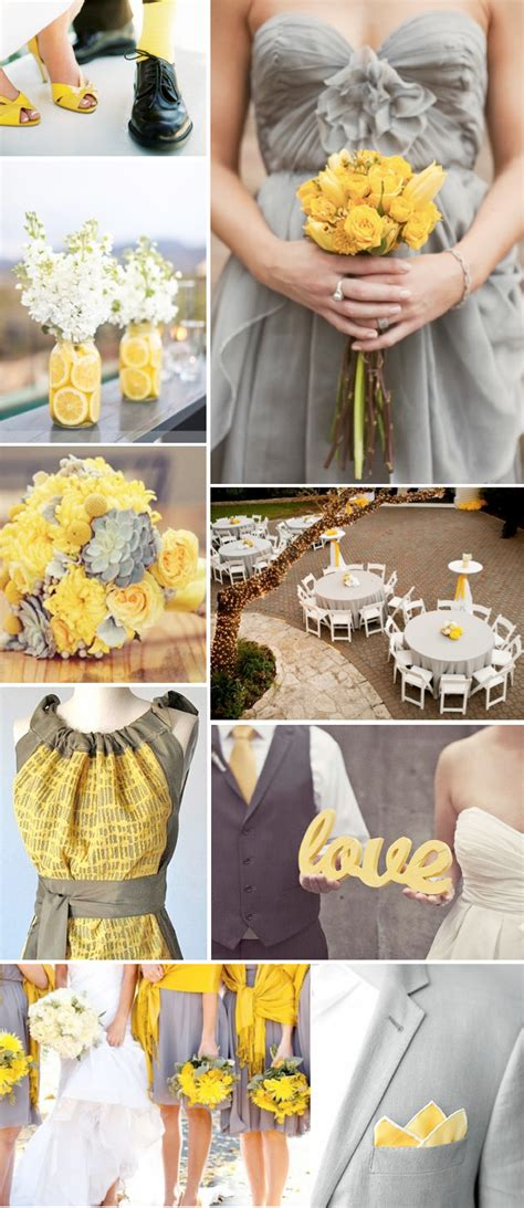 grey yellow wedding theme weddings by lilly