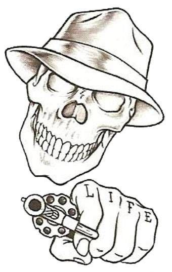 tattoo design for beginners easy drawings beginners prison stick skull