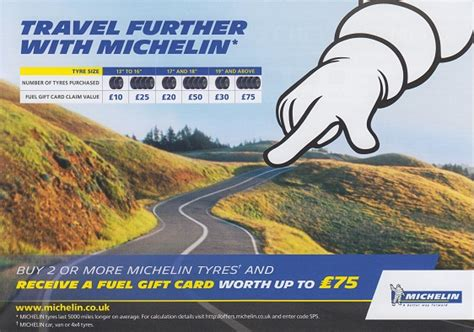 Michelin Fuel Gift Card - tyres and vehicle servicing in northern ireland