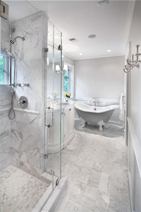 carrara marble bathroom on