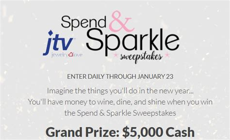 Jewelry Tv Sweepstakes - jtv jewelry tv spend sparkle 5 000 cash sweepstakes