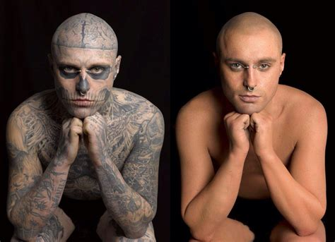 tattoo cover up makeup yahoo zombie boy rick genest before tattoos a before and after