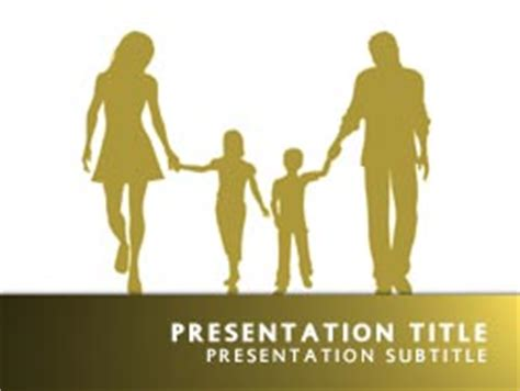 free powerpoint templates family royalty free family powerpoint template in yellow
