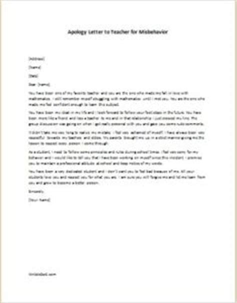 Apology Letter To For Bunking Classes Sle Apology Letter To For Talking In Class