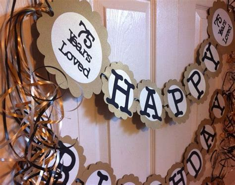 Best 25  75th birthday decorations ideas on Pinterest