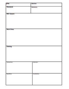 Blank Lesson Plan Template Madinbelgrade Lesson Plan Template Word Editable