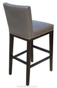 Bar Stools With Nailhead Leather Sr 75873 Leather Bar Counter Stool With Nail