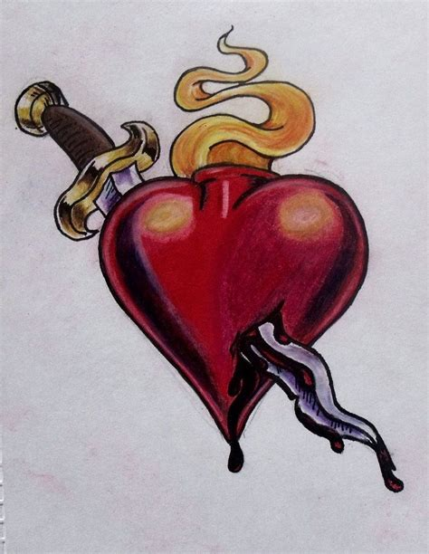heart and dagger tattoo designs and dagger by ifinch deviantart on deviantart