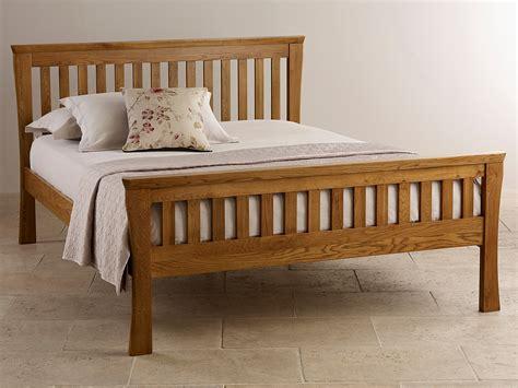 rustic king size bed orrick rustic solid oak king size bed bedroom furniture