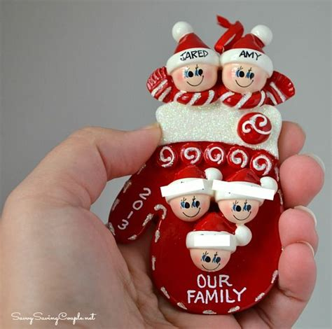 family christmas ornaments ideas  pinterest